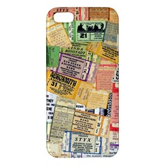 Retro Concert Tickets iPhone 5S Premium Hardshell Case