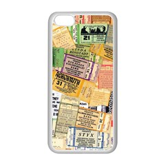 Retro Concert Tickets Apple iPhone 5C Seamless Case (White)