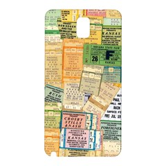 Retro Concert Tickets Samsung Galaxy Note 3 N9005 Hardshell Back Case