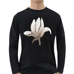 Flower Men s Long Sleeve T Shirt (dark Colored)