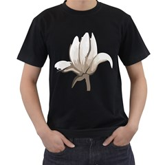 Flower Men s T Shirt (black)