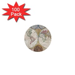 1794 World Map 1  Mini Button (100 pack)