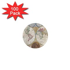 1794 World Map 1  Mini Button Magnet (100 pack)