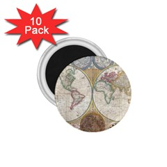 1794 World Map 1.75  Button Magnet (10 pack)