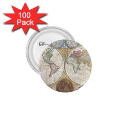 1794 World Map 1 75  Button (100 Pack)