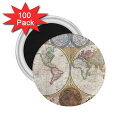 1794 World Map 2.25  Button Magnet (100 pack)