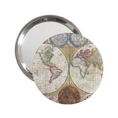 1794 World Map Handbag Mirror (2 25 )