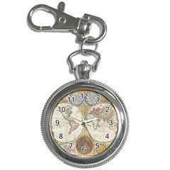 1794 World Map Key Chain Watch