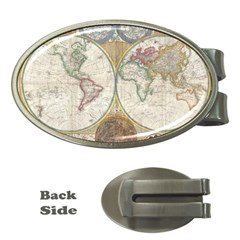 1794 World Map Money Clip (Oval)
