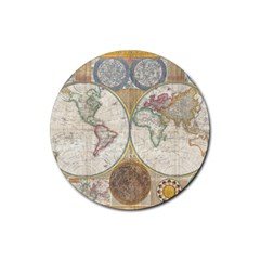 1794 World Map Drink Coasters 4 Pack (Round)