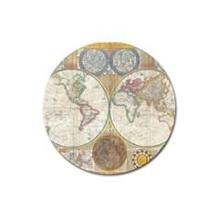 1794 World Map Magnet 3  (round)