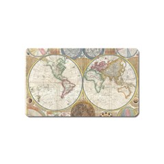 1794 World Map Magnet (name Card)