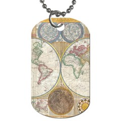 1794 World Map Dog Tag (two Sided)