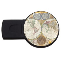 1794 World Map 2GB USB Flash Drive (Round)