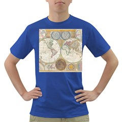 1794 World Map Men s T Shirt (colored)