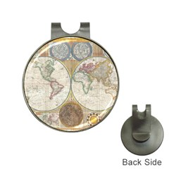 1794 World Map Hat Clip with Golf Ball Marker