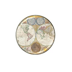 1794 World Map Golf Ball Marker 4 Pack (for Hat Clip)
