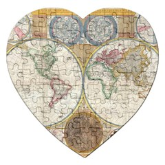 1794 World Map Jigsaw Puzzle (heart)