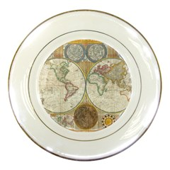 1794 World Map Porcelain Display Plate