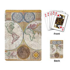 1794 World Map Playing Cards Single Design