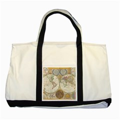 1794 World Map Two Toned Tote Bag