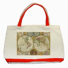 1794 World Map Classic Tote Bag (Red)