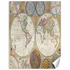 1794 World Map Canvas 12  X 16  (unframed)
