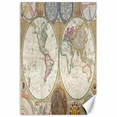 1794 World Map Canvas 20  X 30  (unframed)