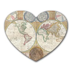 1794 World Map Mouse Pad (Heart)