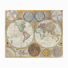 1794 World Map Glasses Cloth (Small, Two Sided)