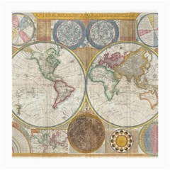 1794 World Map Glasses Cloth (medium)