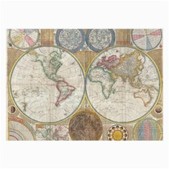1794 World Map Glasses Cloth (large, Two Sided)