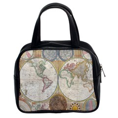 1794 World Map Classic Handbag (two Sides)