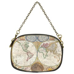 1794 World Map Chain Purse (One Side)