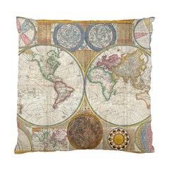 1794 World Map Cushion Case (two Sided)
