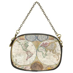1794 World Map Chain Purse (two Sided)