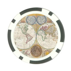 1794 World Map Poker Chip (10 Pack)