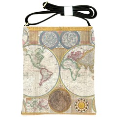 1794 World Map Shoulder Sling Bag