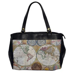 1794 World Map Oversize Office Handbag (One Side)