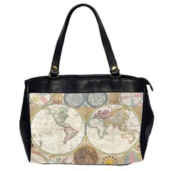 1794 World Map Oversize Office Handbag (two Sides)
