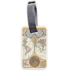 1794 World Map Luggage Tag (Two Sides)