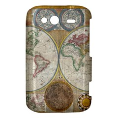 1794 World Map HTC Wildfire S A510e Hardshell Case
