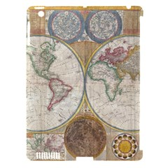 1794 World Map Apple iPad 3/4 Hardshell Case (Compatible with Smart Cover)