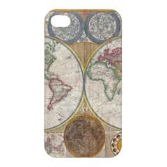 1794 World Map Apple Iphone 4/4s Premium Hardshell Case
