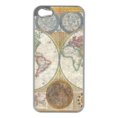 1794 World Map Apple Iphone 5 Case (silver)