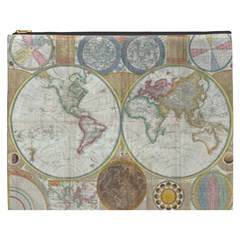 1794 World Map Cosmetic Bag (xxxl)
