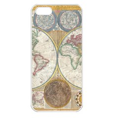 1794 World Map Apple Iphone 5 Seamless Case (white)