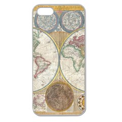 1794 World Map Apple Seamless Iphone 5 Case (clear)
