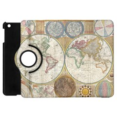 1794 World Map Apple iPad Mini Flip 360 Case