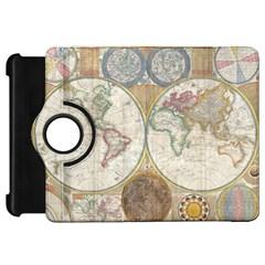 1794 World Map Kindle Fire HD 7  (1st Gen) Flip 360 Case